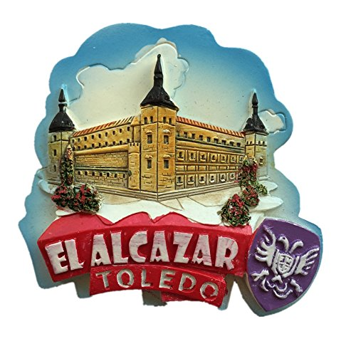 The Alcazar Toledo Spain Europe City World resin 3d strong magnet for fridge souvenir tourist gift Chinese magnet handmade creative home and kitchen magnetic decoration