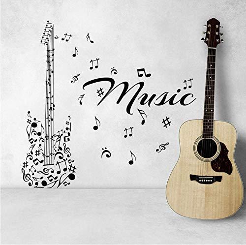 Kreative Wandmusik Serie Kunst Wandaufkleber Musik Symbole bestehend aus Gitarrenmustern speziell gestaltete Wandaufkleber Vinyltapete