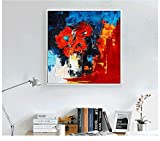 ZXJYH Reine Handgemalte Abstrakte Weise Einfache Muster Öl Malerei Sofa Im Wohnzimmer An Der Wand Malen Rahmenlose Home Deko Wandbild, 40 X 40 cm