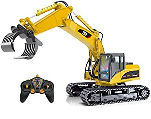 buy top race 15 channel remote control rc fork excavator. Black Bedroom Furniture Sets. Home Design Ideas
