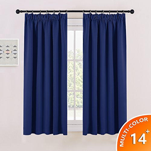 Buy blackout pencil pleat window curtains pony dance for Super insulated windows