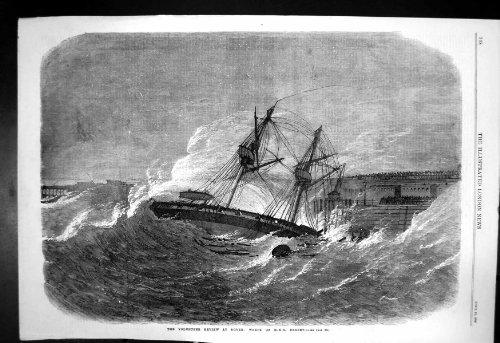 Freiwilliges Frettchen 1869 Zusammenfassungs-Dover-Wrack-HMS