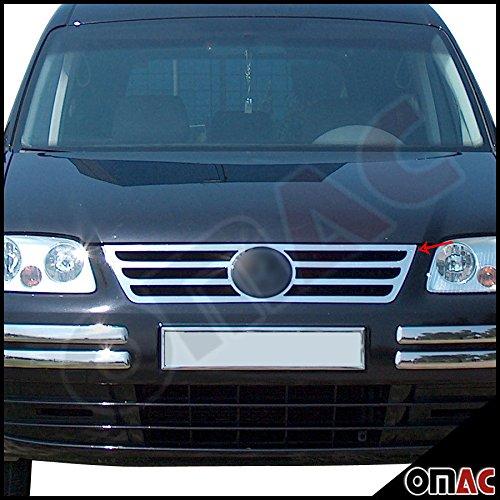 Preisvergleich Produktbild VW Caddy 2003 - 2010 Chrom Kühlergrill / Grill Leisten Edelstahl