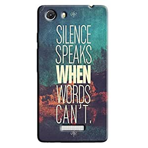 SILENCE SPEAKS BACK COVER FOR MICROMAX UNITE 3
