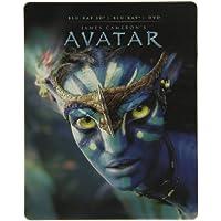 Avatar 3D Steelbook Blu-Ray, IT-Import mit deutscher Tonspur auf Blu-Ray 3D/2D + DVD in Englisch + Französisch, Regionfree