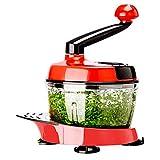 fish 1.5L Multifunktionsfruchtsalat Blender Manuelle Cutter Küchenmaschine Fleischwolf Gemüsehacker Shredder