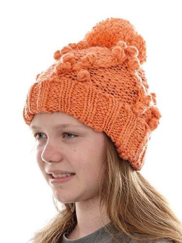 O`Neill Beanie Strickmütze Kopfbedeckung Santa Ana orange Bommel Bund (M)