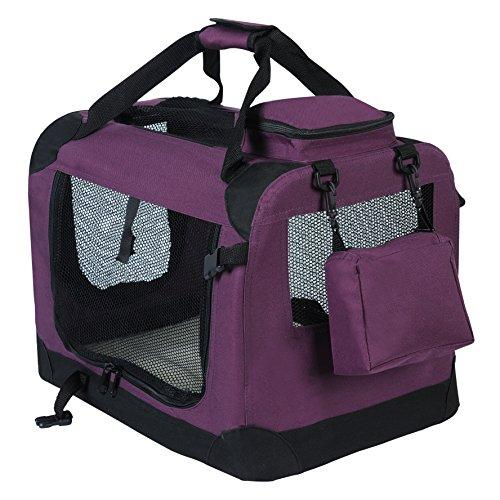 WOLTU HT2025vl Hundebox Hundetransportbox Auto Transportbox Reisebox Katzenbox mit Hundedecke faltbar 49,5x34,5x35cm, - Katze Transportbox