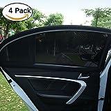FREESOO Sonnenschutz Auto Kinder Sonnenblend Seitenscheiben vor-und Hinterseitenfenster UV-Schutzabdeckung Sonnenschutz Heckscheiben für Baby 4PCS S:100 * 54CM