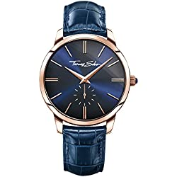 "Thomas Sabo Watches, Herrenuhr ""REBEL SPIRIT"", Edelstahl; Leder, WA0212-270-209"
