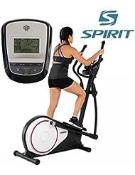 Spirit Cross Trainer DRE 20 - Bicicleta elíptica con sensores de pulso de mano, ergómetro, cardio fitness