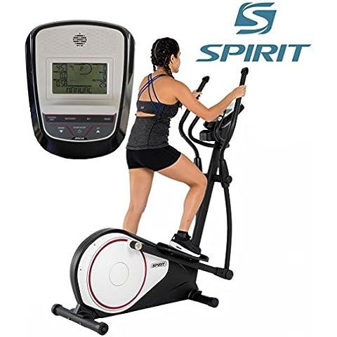Spirit Cross Trainer DRE 20 - Ellittica con Sensori da Polso, ergometro, cardio fitness - Corrente Ellittica