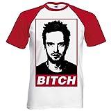 Bad perra T-camiseta de manga corta Jesse Pinkman inspirado en la serie Breaking serie de televisión