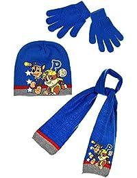 Echarpe, bonnet et gants enfant garçon La Pat' Patrouille 3 coloris de 3 à 9ans