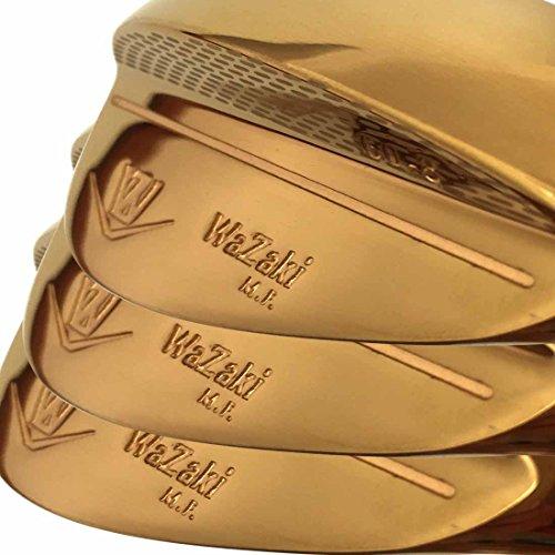 Eisen-satz (Generic Japan Wazaki 14K Gold Finish M PRO Forged Soft Eisen USGA R A Rules of Golfschläger Wedge Satz(Packung mit 3))