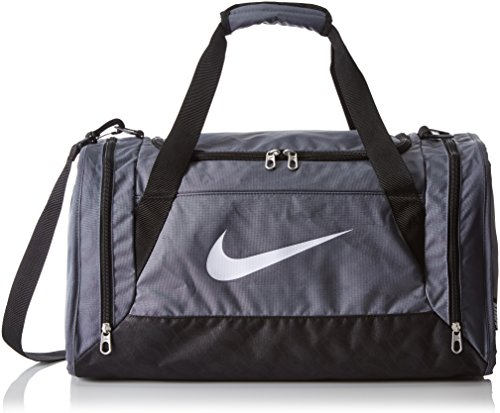 NIKE Sporttasche Brasilia 6 Fitness Duffel Sport small Gr. S grey black, Farben:Gris