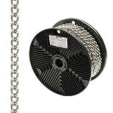 WOLFPACK 1040055 Cadena Decorativa Barbada Niquelada 2,0 mm. Rollo 20 Metros