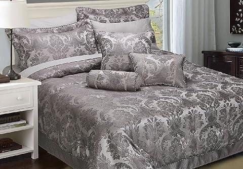 Cocoon Carrington Pewter Cushion (Square (22'' x 22''))