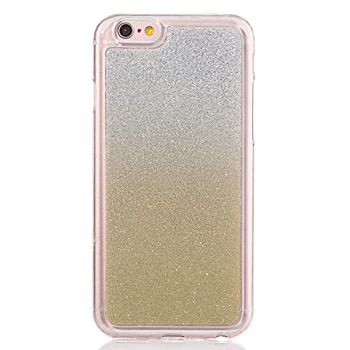 "Translucide Cover avec Kickstand Ring pour Apple iPhone 6/6s 4.7"", CLTPY Soft Gomme Shell dans 2in1 Amovible Scintillate Glint Motif Antipoussière Anti-rayures Ultra Mince Léger Fit pour iPhone 6,iPho Or"