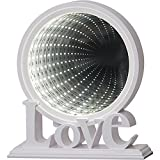 KAMACA - XL - Zauber - Spiegel mit LED - tolle Motive und Farben - Wohnzimmer und Kinderzimmer Beleuchtung Deko und Lampe - leuchtende LED - Zauberspiegel Effekte - warm weiss hell leuchtend - in wertigem Karton verpackt - eine tolle Geschenk - Idee für einen lieben Menschen - Geburtstag - NEU aus dem KAMACA - SHOP (Leucht - Kreis Weiss)
