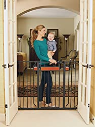 Regalo Home Accents Extra Tall Walk Thru Baby Safety Gate (Black)