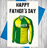Vater 's Day Norwich Fußball Mottoparty Karte–Happy Father 's Day