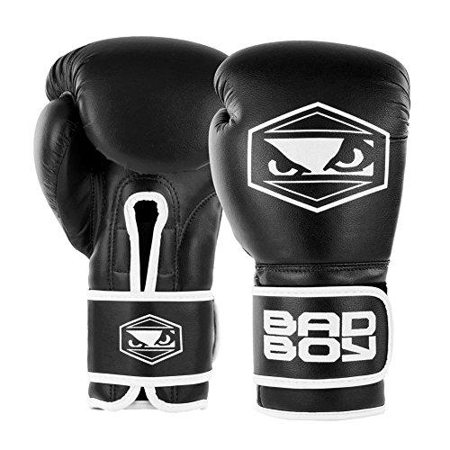 Bad Boy Strike Boxing Gloves-Black-14oz Bad Boy Leder