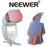 Neewer® Universal 20 Stück Farbfolien Blitz Gele farbige Beleuchtungs Gele Farbe Speedlite Filter Set für Canon Nikon Sony Pentax Olympus