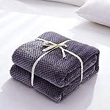EMEZ Blanket Hochwertige Decke Decke Coral SAMT Laken Sofa Freizeit Decke, fliederfarben/violett, 150x200cm
