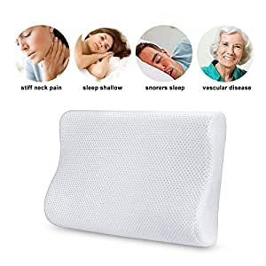 Aohayo Memory Foam Pillow Hypoallergenic Material Comfortable Pillow with Removable Soft Case