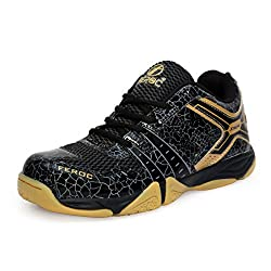 Feroc Non Marking Unisex Badminton Shoes (Free Delivery) (9.5, Black)