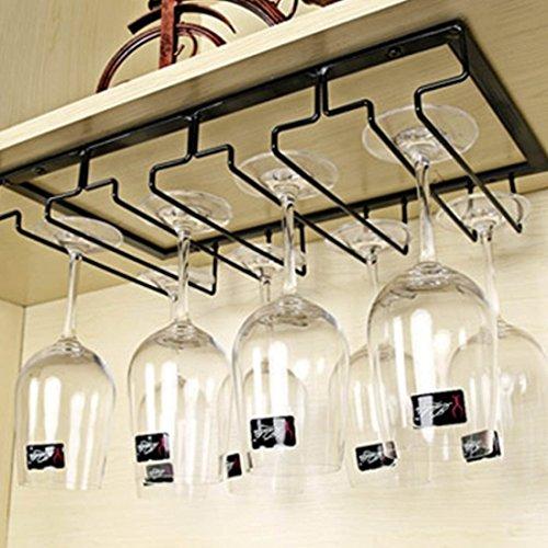 MRKE Weinglas Halterung Metall 4 Reihen Weinglas-Rack für 8-12 Tassen