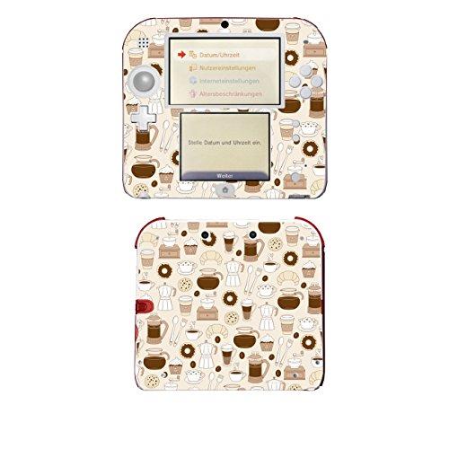 'Disagu SF de 105310_ 1148Diseño Protector de pantalla para Nintendo 2DS–Diseño café 01transparente