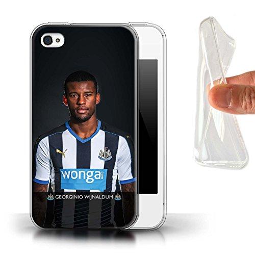Offiziell Newcastle United FC Hülle / Gel TPU Case für Apple iPhone 4/4S / Pack 25pcs Muster / NUFC Fussballspieler 15/16 Kollektion Wijnaldum