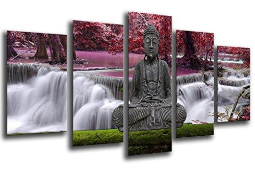 Cuadro Moderno fotografico base madera, 165 x 62 cm, Buda Buddha, Relajacion, Relax, Zen ref. 26246