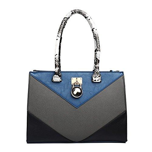 Miss Lulu - Borse a spalla donna Blue