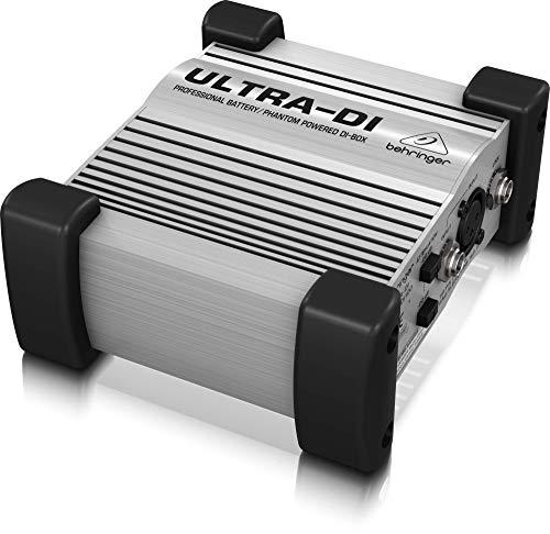 DI BOX-ULTRA DI PRO DI100 --- External Depth:150mm --- External Length / Height:60mm --- External Width:130mm --- Frequency Response Max:93kHz --- Frequency Response Min:10Hz --- Sound Level SPL:-110dB --- Weight:650g