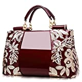 CHDDE Klassisch bestickte Luxus-Tasche, Elegante Designer-Lacktasche, geeignet für Unternehmen,...