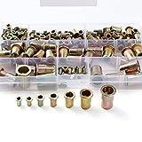 165 tlg Nietmuttern Blindnietmuttern Einnietmuttern Sortiment Set M3 M4 M5 M6 M8 M10 M12
