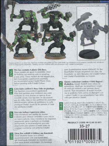 GAMES WORKSHOP 99120103015 Ork Boyz Figura de acción de 40.000 pulgad