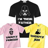 T-shirt di famiglia Star Wars inspired per papà, bimbo e bimba! Padre e figli!