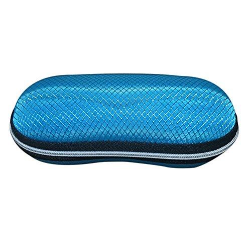 Haodou Sonnenbrille Hülle Brillenetui Harte Schale Streifen Design Staubdicht Stoßfest Tragbar Universal für Herren und Damen(Schwarz Braun Orange Blau)