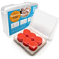 Acusnore - Tapones para los oídos de silicona suave, cómodos y ajustables, moldeables, para dormir