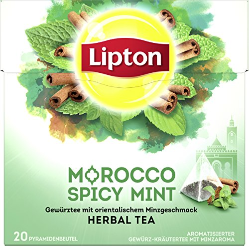 Lipton Kräutertee Marokkanische Minze Pyramidenbeutel, 20 Stück (Tee Arabische Minze)