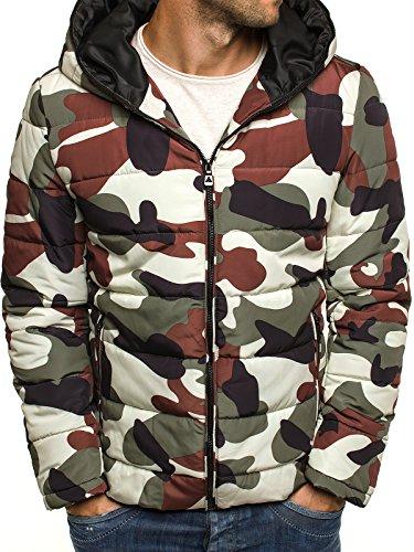 OZONEE Herren Winterjacke Wärmejacke Kapuzenjacke Camouflage Militärstil Armee Sweatjacke Steppjacke Jacke Sportjacke OZONEE 3167 Camo