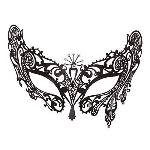 Xinmeitezhubao Lady Maske Metall Diamanten Performance Party maskerademaske Halloween Auge (Sexy Halloween Augen)