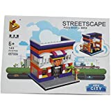 BUCA Latest Trendy Mini City Lego Pizza Shop Building Block Toy For Kids - Multi Color