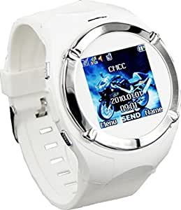 Watch Phone Unlocked with Camera Cell Phone Mobile Touch Screen Mp3/4 Fm (White)