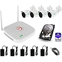 Wi-Fi Videoüberwachungsset (IP66), 4 720p (1.0 Megapixel), NVR-Rekorder mit Festplatte WD Purple (1 TB), Nachtsicht 20 Meter, P2P, ONVIF 2.4
