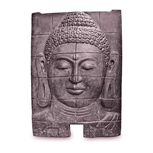 Oriental Galerie Buddha Steinbild Figur Skulptur Stein Lavasand Bali Steinfigur Garten Deko 140cm